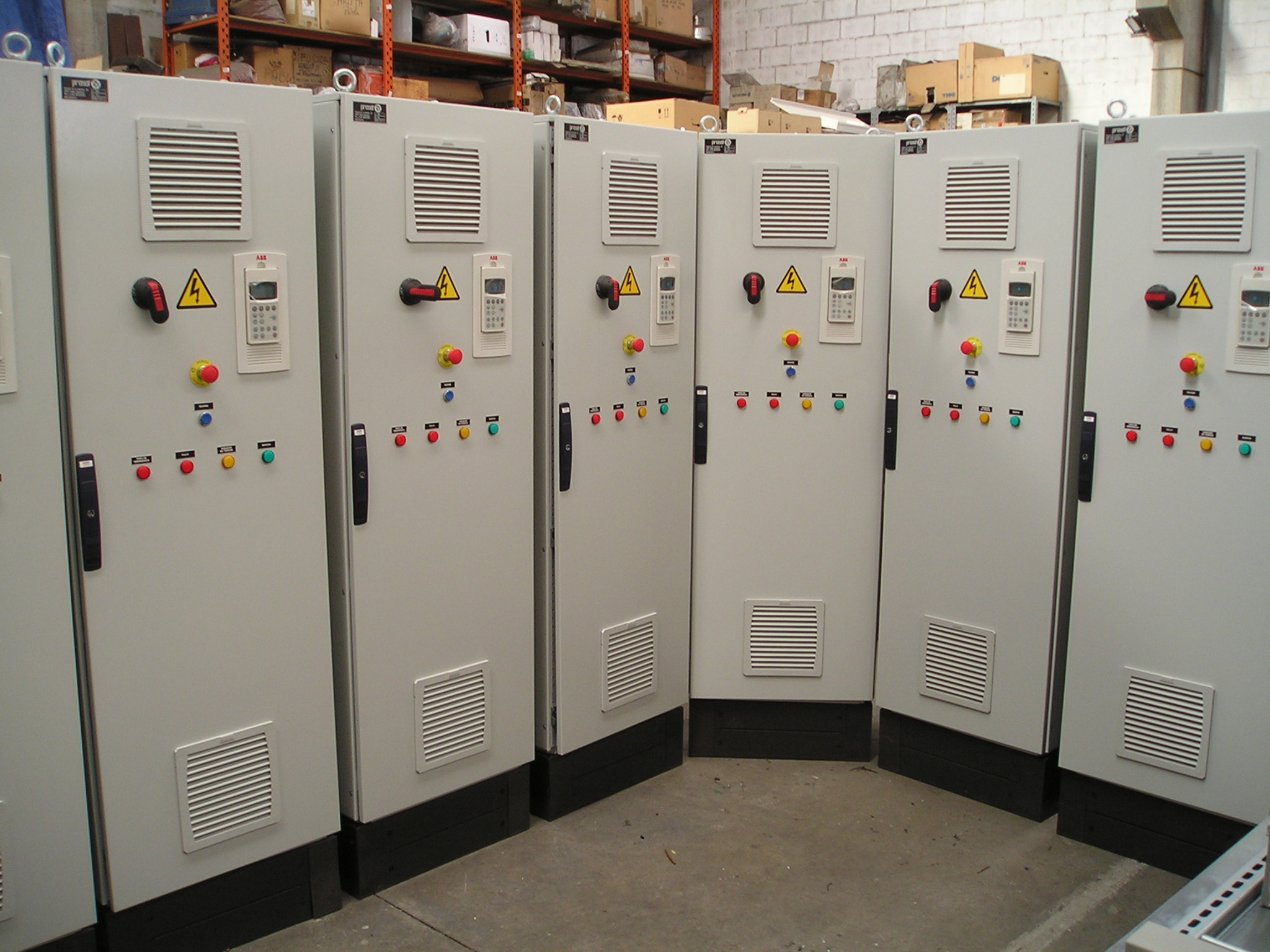Manufacturing series of cabinets for the concrete industry.